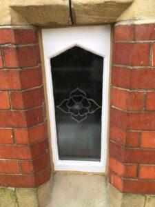 chapel window following decoration