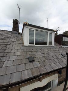 slated roof with dormer window